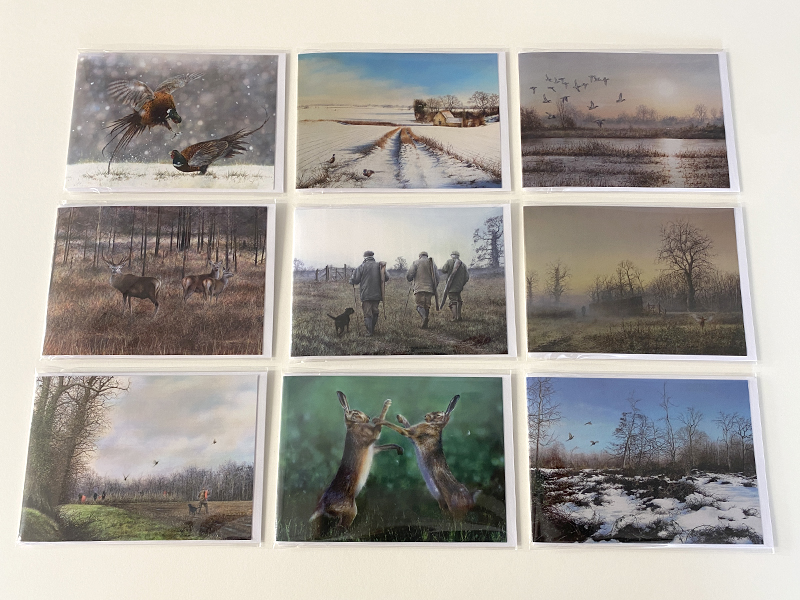 Mixed Pack of 9 Country Sports Greeting Cards