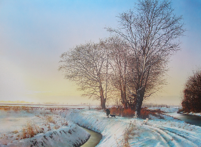 winter hunter painting artist james green